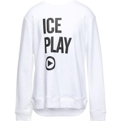 アイスプレイ ICE PLAY メンズ スウェット・トレーナー トップス Sweatshirt White