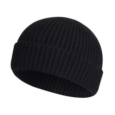 ROYBENS ウールカフニット スカルキャップ ビーニー US サイズ: One Size カラー: ブラック【並行輸入品】