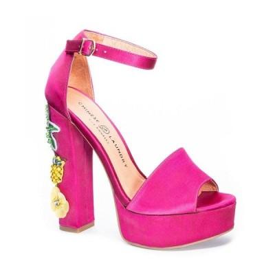 チャイニーズランドリー サンダル シューズ レディース Aloha Women's Platform Sandals Hot Pink