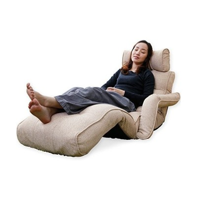 LOWYA ロウヤ 座椅子 ソファ 肘掛け 3Dヘッド リクライニング ポケットコイル ダークブラウン ベージュ