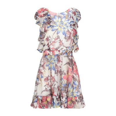 MANGANO ミニワンピース&ドレス ベージュ 42 ポリエステル 100% ミニワンピース&ドレス