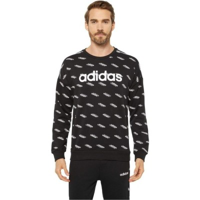 アディダス adidas メンズ スウェット・トレーナー トップス Favorite Sweatshirt Black/White