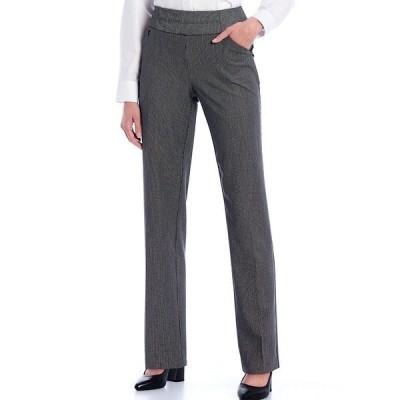 インベストメンツ レディース カジュアルパンツ ボトムス the PARK AVE fit Straight Leg Pull-On Novelty Print Pants Microcheck