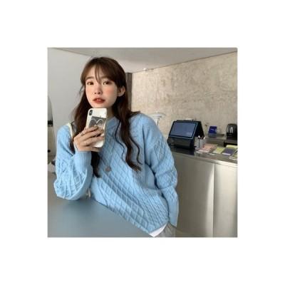 【送料無料】青いプルオーバー 女 ルース アウトドア 優しい 風 手厚い ミディ丈 T上着 新し | 364331_A64142-6856148