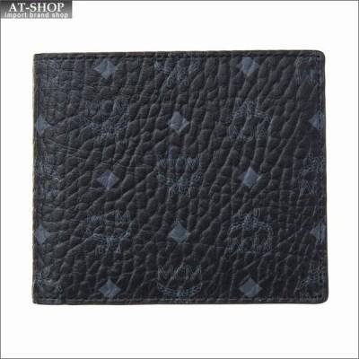 エムシーエム MCM 二つ折り財布 MXS8SVI66BK001 BLACK