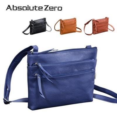 サコッシュ 横型レザーバッグ Lサイズ 4色 インドレザー 本革 牛革 カジュアル ABSOLUTE ZERO Casual Leather 4-376