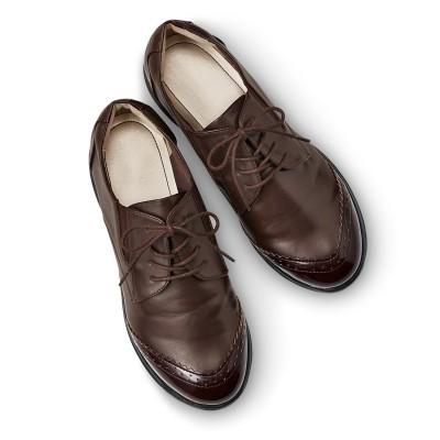 クラソ Kraso 脱ぎ履き素早く驚くほど軽いスニーカー心地のきちんと靴 (ブラウン)