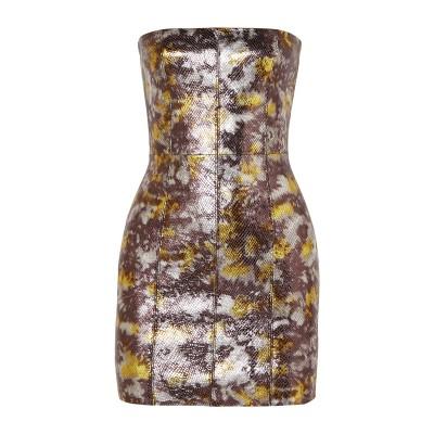 SPRWMN ミニワンピース&ドレス パープル XS 革 100% ミニワンピース&ドレス