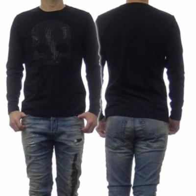 【セール 60%OFF!】HYDROGEN ハイドロゲン メンズクルーネックロングTシャツ 284105 ブラック