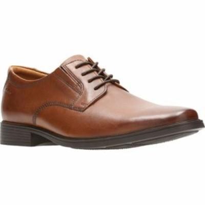 クラークス 革靴・ビジネスシューズ Tilden Plain Toe Oxford Dark Tan Leather
