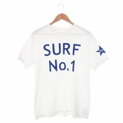 【中古】アーバンリサーチ × 2018 ISA WORLD SURFING GAMES Tシャツ クルーネック 半袖 プリント 2 白 ホワイト