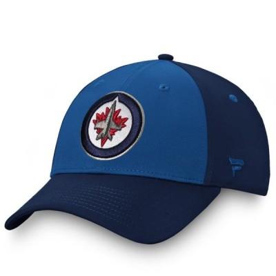 ユニセックス スポーツリーグ ホッケー Winnipeg Jets Fanatics Branded Iconic Defender Flex Hat - Blue/Navy 帽子
