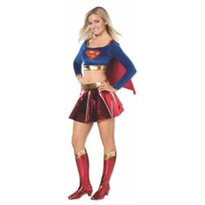 スーパーマン コスチューム ツー-ピース デラックス ティーン スーパーガール コスチューム