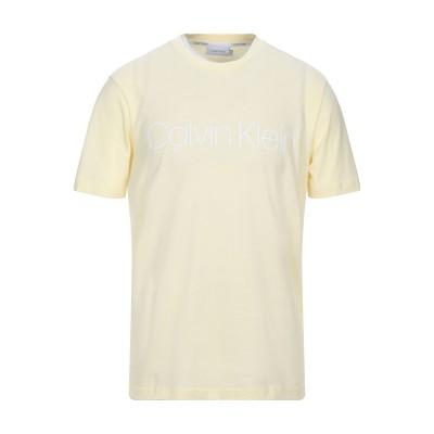 カルバン クライン CALVIN KLEIN T シャツ ライトイエロー M コットン BCI 100% T シャツ
