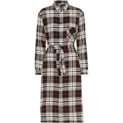 ウールリッチ Woolrich レディース ワンピース シャツワンピース ワンピース・ドレス checked wool-blend shirtdress black hunting