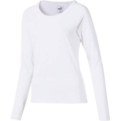プーマ レディース シャツ トップス PUMA Women's Sun Crew Long Sleeve Golf Shirt Bright White