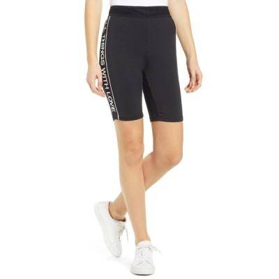 パムアンドジェラ レディース カジュアルパンツ ボトムス Logo Side Stripe Bike Shorts BLACK