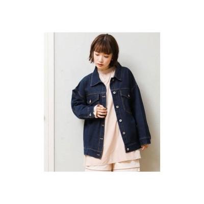 レトロガール RETRO GIRL デニム Big Gジャン (ダークブルー)