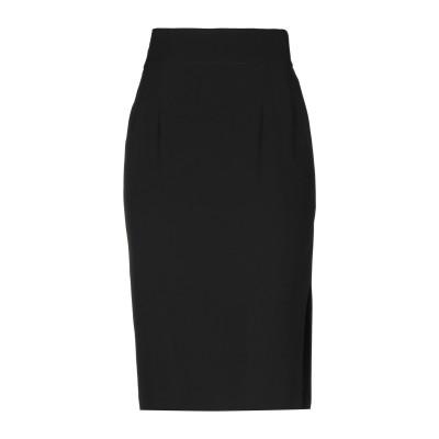 メルシー ..,MERCI ひざ丈スカート ブラック 44 ポリエステル 85% / レーヨン 10% / ポリウレタン 5% ひざ丈スカート