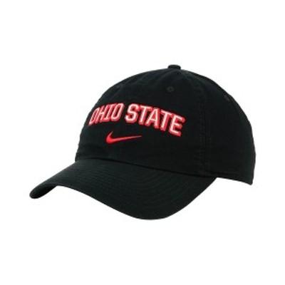 ナイキ メンズ 帽子 アクセサリー Ohio State Buckeyes H86 Wordmark Swoosh Cap Black