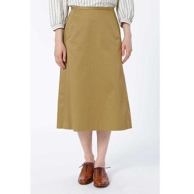 HUMAN WOMAN / ヒューマンウーマン コットンチノ台形スカート