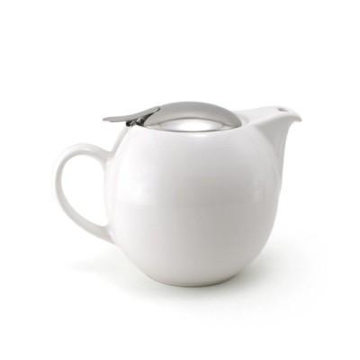 ティーポット ポット 茶器 ホワイト 4〜5人用 おしゃれ お茶 紅茶 来客用 キッチン 台所 お祝い 急須 おうち時間 ユニバーサルティーポット