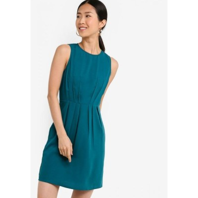 ザローラ ZALORA BASICS レディース ワンピース ワンピース・ドレス Basic Pleat Waist Dress Teal