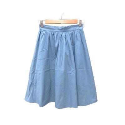 【中古】ドゥアルシーヴ DOUX ARCHIVES フレアスカート ミモレ ロング S 青 ブルー /KB レディース 【ベクトル 古着】