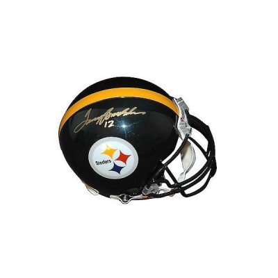 フットボール NFLアメリカン ウェア ユニフォーム リデル Autographed Terry Bradshaw Proline Helmet Pittsburgh Steelers