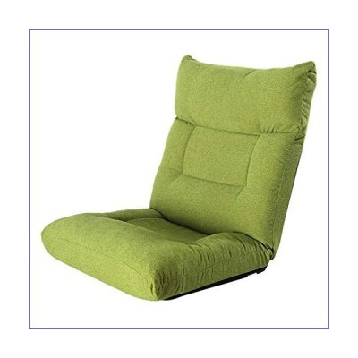 Lazy Sofa Floor Chair Folding Settee Sofa, Backrest Comfortable Home Office Futon Mattress Seat for Reading Watching TV Green[並行輸入