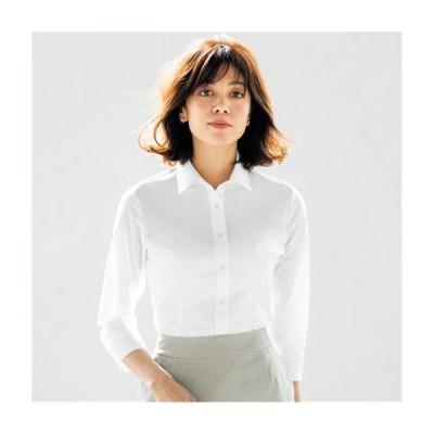 レディースファッション レディース トップス シャツ 形態安定2枚組レギュラーカラーシャツ(七分袖)(洗濯機OK) S M L LL 1464-149711