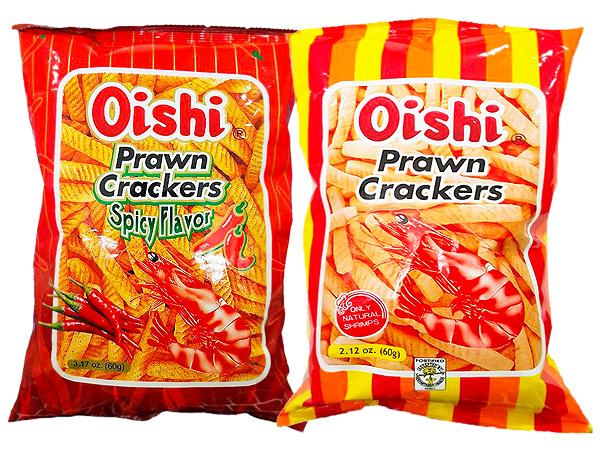 菲律賓 Oishi~辣味蝦餅/蝦餅 (60g) 款式可選 【D044270】