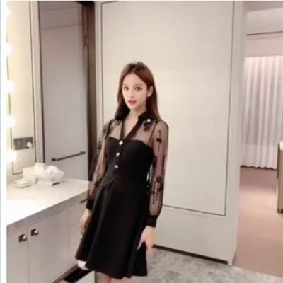 韓国 ファッション レディース 韓国 ファッション レディース ワンピース パーティードレス ショート ミニ丈 秋 冬 春 パーティー ブライ