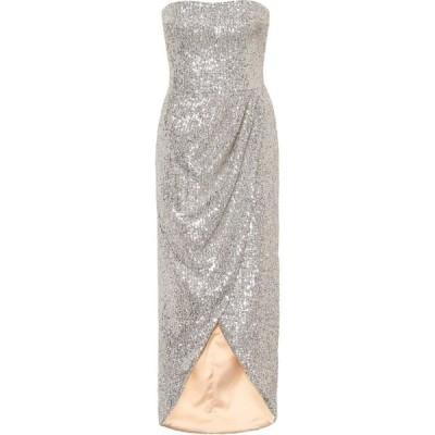 ロサリオ RASARIO レディース パーティードレス ワンピース・ドレス Sequined gown Silver
