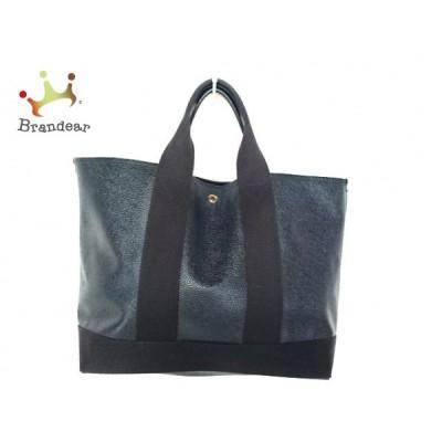 トレジャートプカピ トートバッグ - 黒 PVC(塩化ビニール)×キャンバス×レザー   スペシャル特価 20200716