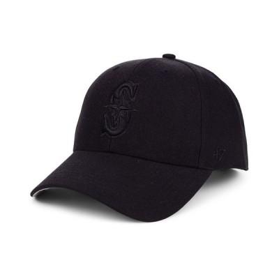 47ブランド 帽子 アクセサリー メンズ Seattle Mariners Black Series MVP Cap Black/Black