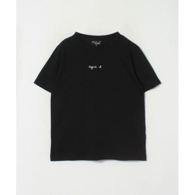 【アニエスベー】 S179 TS ロゴTシャツ レディース ブラック XL agnes b.