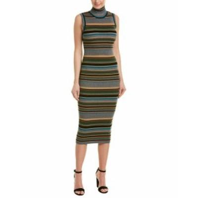 ファッション ドレス Ronny Kobo Shiny Stripe Sheath Dress S Grey