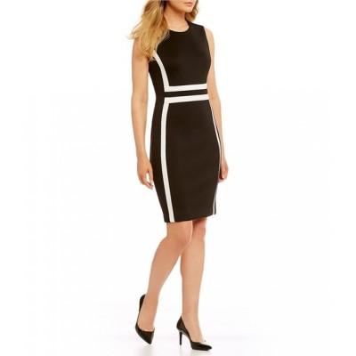カルバンクライン Calvin Klein レディース パーティードレス ワンピース・ドレス Colorblock Sheath Dress Black/White