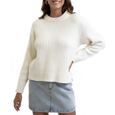リズム レディース ニット&セーター アウター Rhythm Classic Cable Sweater - Women's White
