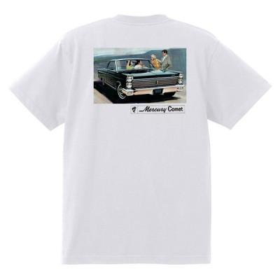 アドバタイジング マーキュリーTシャツ 白 1171 黒地へ変更可 1965 モントレー クーガー パークレーン ホットロッド レトロ