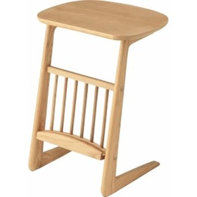単品 ヘンリー サイドテーブル エンドテーブル コーナーテーブル 小型 脇台 机 (数量1) ナチュラル  送料無料