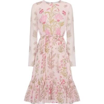 ジャンバティスタ バリ GIAMBATTISTA VALLI レディース ワンピース ミドル丈 ワンピース・ドレス Floral silk georgette midi dress Rose/Fuchsia