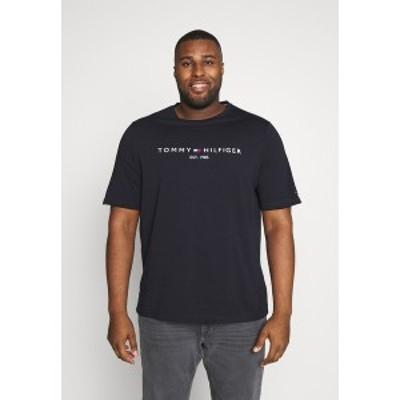 トミー ヒルフィガー メンズ Tシャツ トップス LOGO TEE - Print T-shirt - blue blue