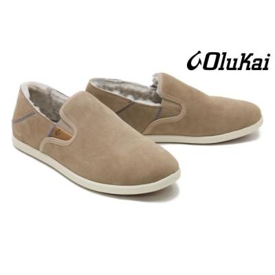 オルカイ / OluKai メンズ スニーカー 13964121 ボア付きスリッポン サンド