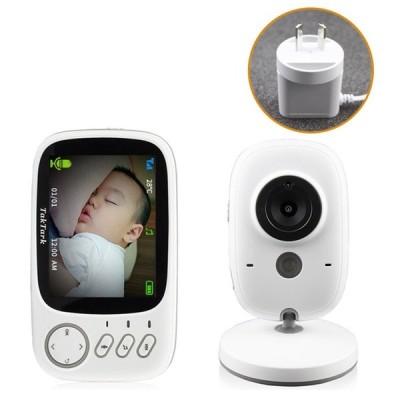 3.2インチ ワイヤレス 無線 ビデオカラー 赤ちゃんモニター 高解像度 赤ちゃん 乳母 防犯カメラ ナイトビジョン 温度監視