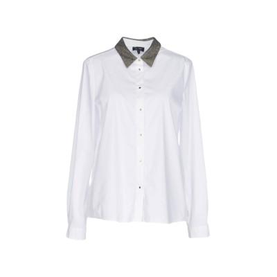 アルマーニ ジーンズ ARMANI JEANS シャツ ホワイト 40 コットン 75% / ナイロン 21% / ポリウレタン 4% / アクリル