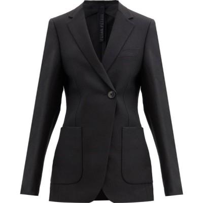 ペーター ペトロフ Petar Petrov レディース スーツ・ジャケット アウター Jahna single-button silk-blend jacket Black