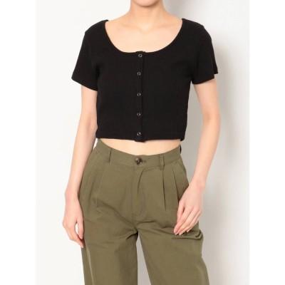 EVRIS ドットボタンショートTシャツ(ブラック)