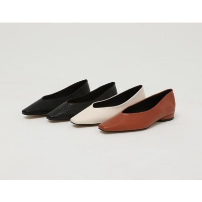 From Beginning レディース フラット French sharp flat shoes_S